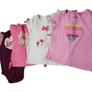 4 Piece Toddler Baby Clothes Bundle Shirts 18 mths